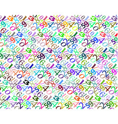 pattern of different colors numbers vector image vector image