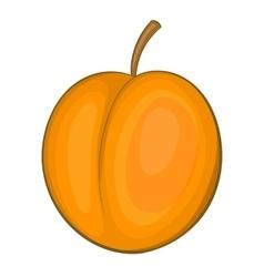 Peach icon cartoon style vector
