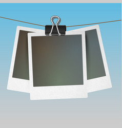 Photo frames hanging vector