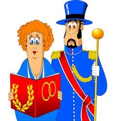 Registrar weddings and doorman vector