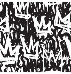 Seamless pattern graffiti vector