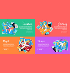 set of conceptual web banners for travel agency vector image vector image