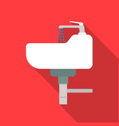 Sink icon in flat style isolated on white vector