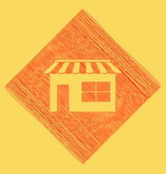 store sign red scribble icon vector image