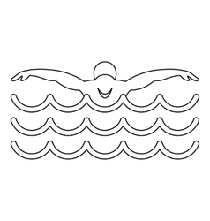 Swimmer icon simple style vector image vector image