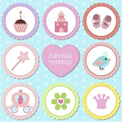 Tags with princess theme vector