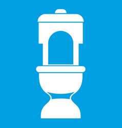 Toilet bowl icon white vector