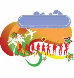 tropical girls vacation logo vector image