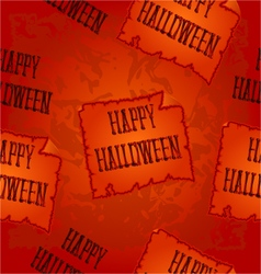 Seamless texture happy halloween inscription vector