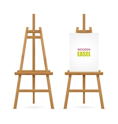 Wooden artist easel set vector
