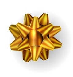 Golden bow decoration on white vector