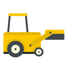 Yellow truck to lift cargo icon isolated vector