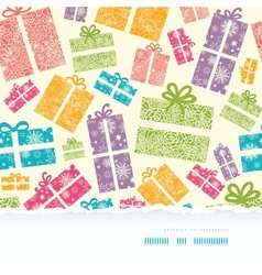 Colorful Textured Gift Boxes Horizontal Torn vector image