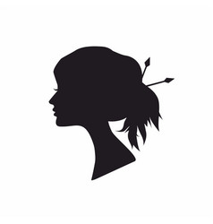 abstract black silhouette woman vector image