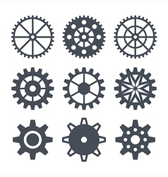 Icons cogwheel vector