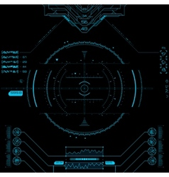 Futuristic graphic user interface vector