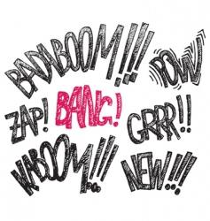 comics text vector image