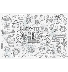A large set of hand-drawn doodles back to vector