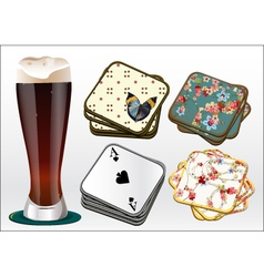 Beer coasters vector