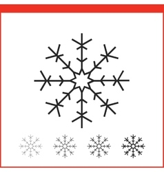 Christmas snowflake icon vector