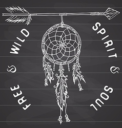 Dream catcher and arrow tribal legend in indian vector