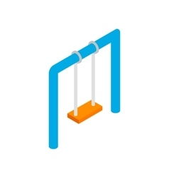 Swing isometric 3d icon vector