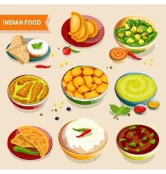 Indian food set vector