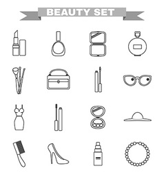 Beauty big icon set vector