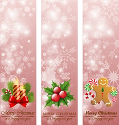 Christmas vintage vertical banners vector image vector image