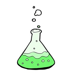 Comic cartoon science chemicals vector