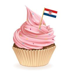 Croatian cupcake vector