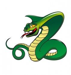 danger green cobra vector image