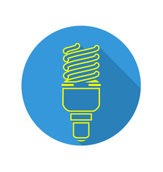 energy saving light fluorescent light bulb vector image