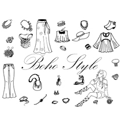 Fashion women clothes vector image