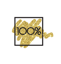 Gold sale 100 percent shine salling background vector