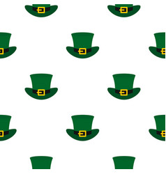 Green top hat with buckle pattern seamless vector