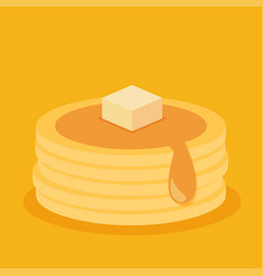 isometric icon of pancakes vector image vector image