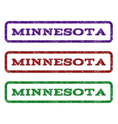 minnesota watermark stamp vector image