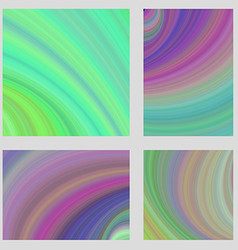 Multicolored psychedelic brochure background set vector