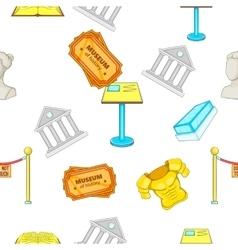 Museum pattern cartoon style vector image