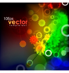 Natural themed background vector