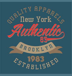 New york authentic brooklyn vector