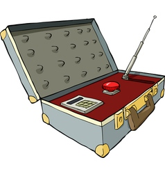 nuclear suitcase vector image vector image