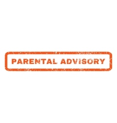 Parental advisory rubber stamp vector