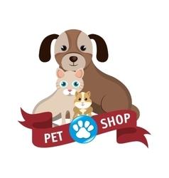 Pet shop center icon vector