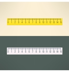 Realistic ruler tool education and office vector