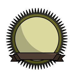 Seal frame with ribbon vector