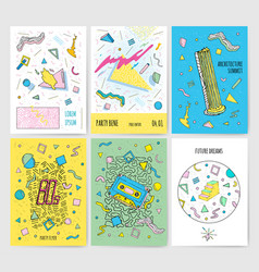 set of abstract modern cards templates with vector image vector image