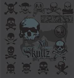 Skull-icons vector