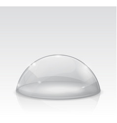 Transparent white dome glass semi-sphere vector